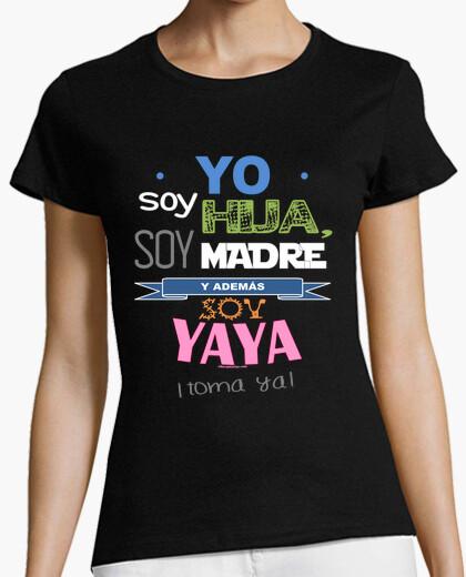 Camiseta Hija, Madre y Yaya