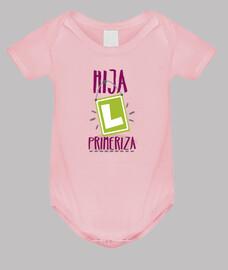Hija primeriza, Body bebé, rosa
