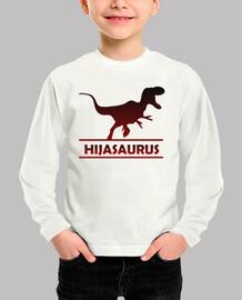 Hijasaurus camiseta manga larga para hija dinosaurio