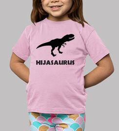 hijasaurus, fille (fond clair)