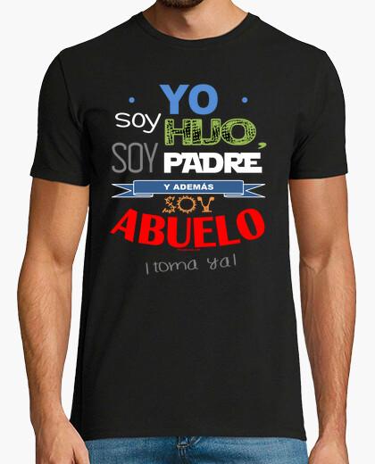 Camiseta Hijo, Padre y Abuelo (fondo oscuro)