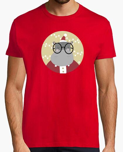 Camiseta hipopótamo navidad