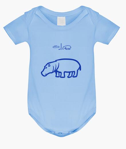 Ropa infantil Hipopótamo (azul)
