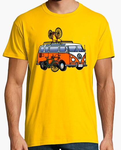 Camiseta Hippie Van Bike Hombre