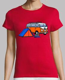 hippie van trek woman
