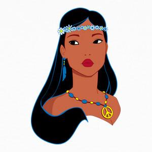 Hippiehontas Pocahontas Hippie T-shirts