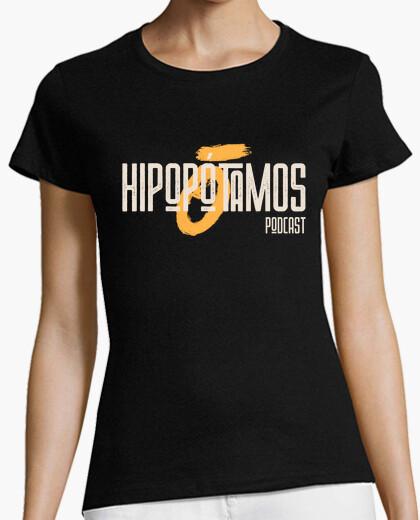 Hippo woman t shirt - dark colors - big...
