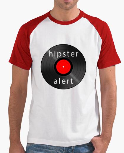 Camiseta Hipster Alert bicolor Roja Chico