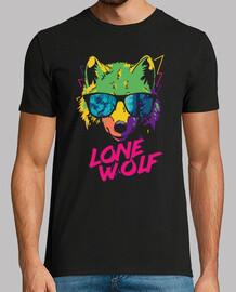 hipster animaux loups psychédéliques t-shirt pour wolfman rétro