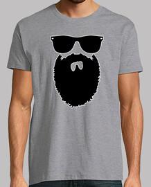 Hipster beard glasses poster vintage retro