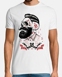 Hipster Beard Skull Barber Calaveras