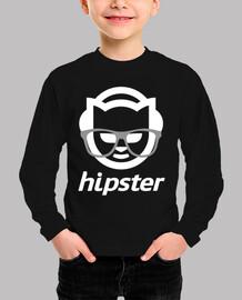 Hipster blanco manga corta peques