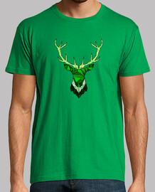 hipster deer green