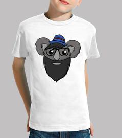 Hipster Koala - Manga Corta Infantil
