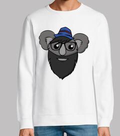 hipster koala - ohne capucha unisex