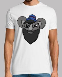 Hipster Koala - Short Sleeves Man