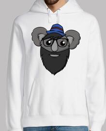 Hipster Koala - Sudadera Hombre