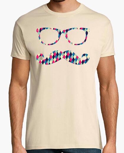 T-shirt hipster moustache02