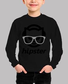 Hipster negro manga corta peques