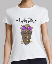 hipster otter con testi