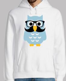 hipster owl mustache
