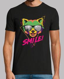 hipster psychédélique panda red smile shirt de positivité