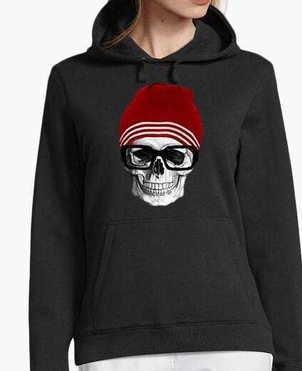 Hipster skull hoody
