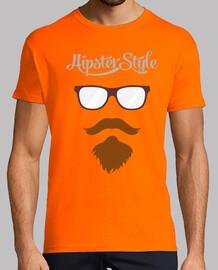 hipster stile - occhiali, baffi e la barba