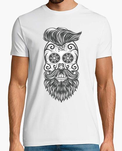 Camiseta Hipster sugar skull 1