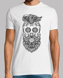 hipster sugar skull 1