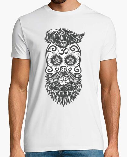 T-shirt hipster sugar skull 3