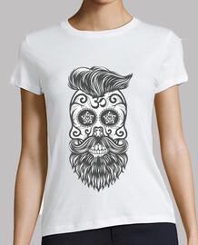 Hipster sugar skull 3