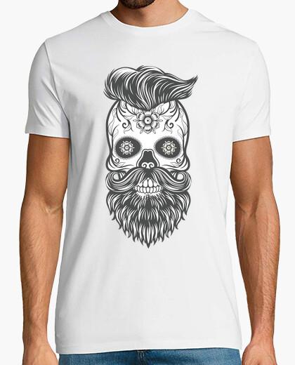 T-shirt hipster sugar skull 4