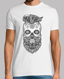 Hipster sugar skull 4