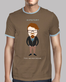 Hipster? Too Mainstream (Camiseta Oscura