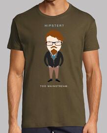 Hipster? too mainstream (dark shirt