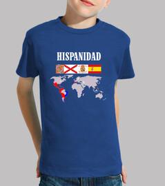 Hispanidad origen con mapa sin letras