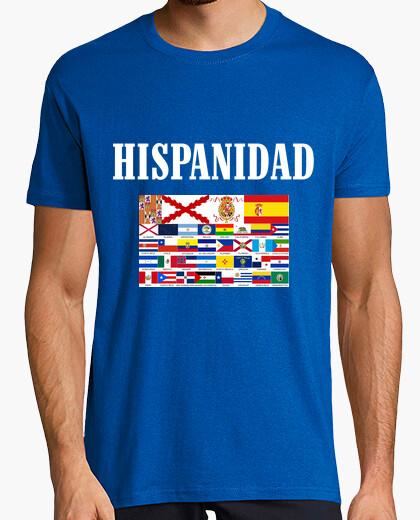 Camiseta Hispanidad paises y origen. Delante y detrás