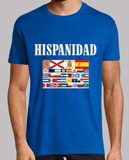 Hispanidad paises y origen. Delante y detrás