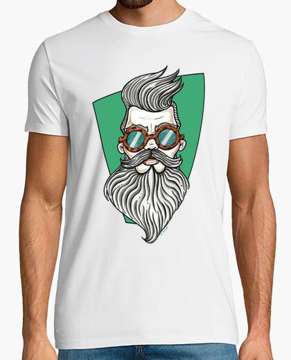 T-shirt hispter- uomo con la barba