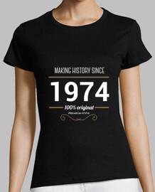 histoire de texte faisant blanc 1974