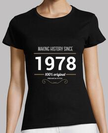 histoire de texte faisant blanc 1978