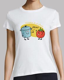 Historia de la Salsa. Olla y tomate.