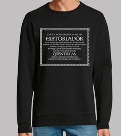 historien, qüentista (fond noir)