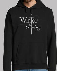 hiver arrive maillot  homme  / arya stark