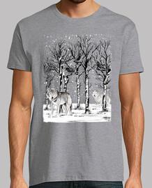 hiver dans la forêt