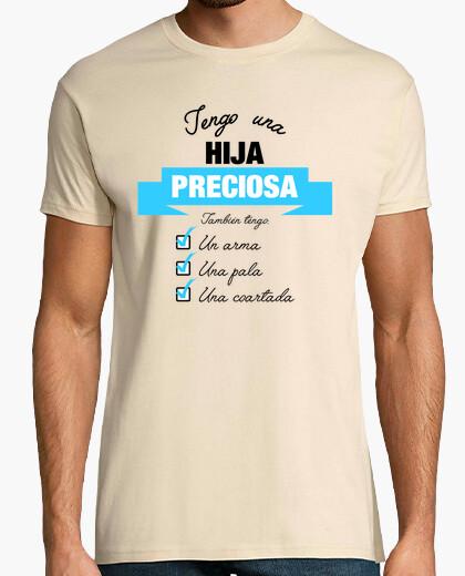 T-shirt ho una figlia bella - fondi versione chiaro