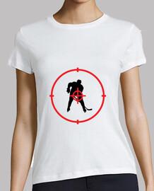 hockey camiseta mujer, blanco, de alta calidad