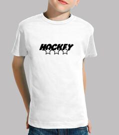 hockey infantil, manga corta, blanco