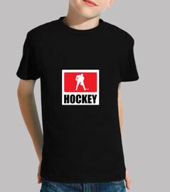 hockey infantil, manga corta, negro